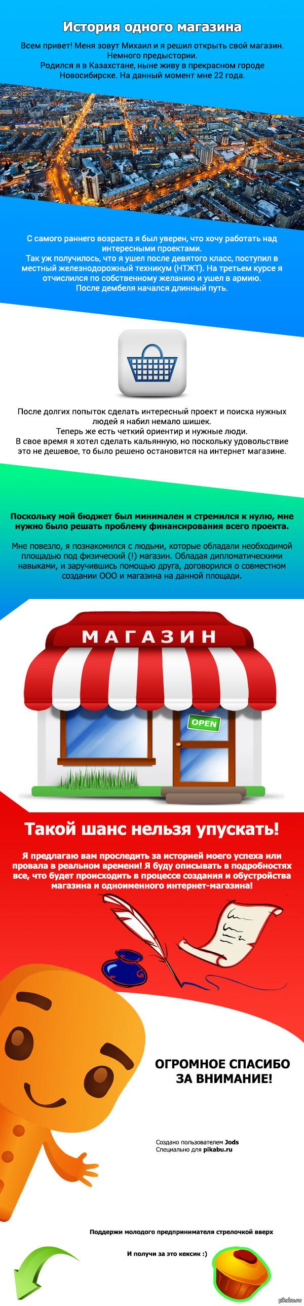 История одного магазина. Начало Пост номер 1 от 29.11.2015