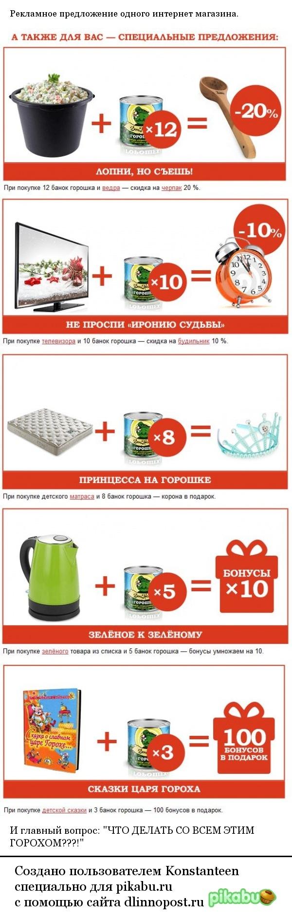 Волшебный горошек Спам, Реклама, Зеленый горошек, Длиннопост, Маркетолог 80-го