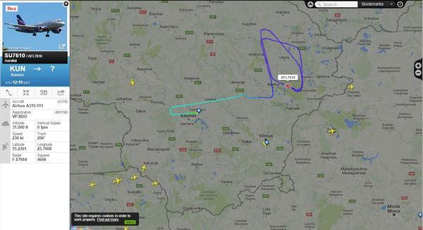 Аэрофлот заблудился Самолет, Аэрофлот, Flightradar24