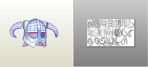 """""""Железный шлем"""" из Skyrim своими руками. Часть 1 из 2 Skyrim, Pepakura, Крафт, Инструкция, Длиннопост, Эпоксидная смола"""