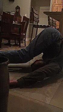 60-летний отец в роли пивного йога) Гибкость, Координация, Йога, Гифка, Спор