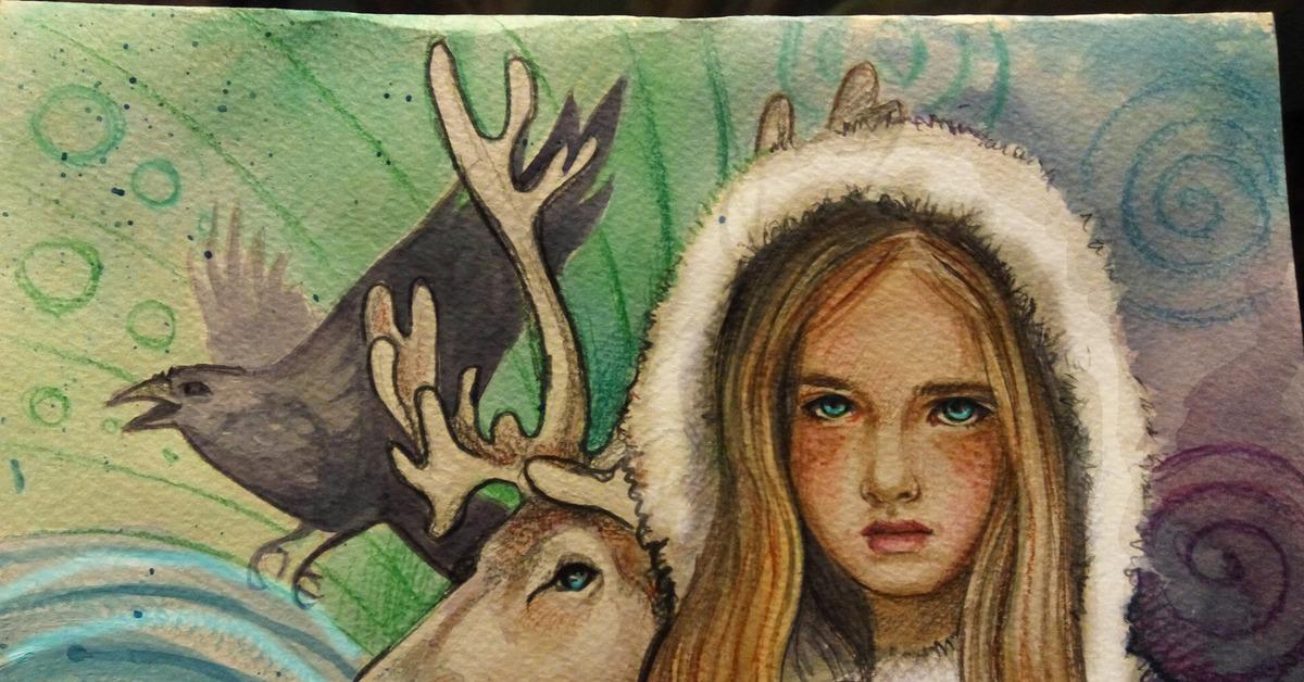 Картинка девочки герды