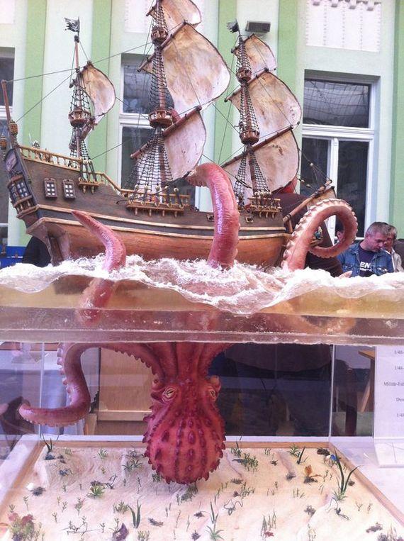 Модель «Day Of The Tentacles» с Moson Model Show Moson Model Show, Корабль, Осьминог, Длиннопост