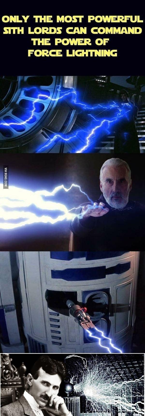 """В догонку к посту """"Только сильнейший Лорд Ситхов может управлять силой молний"""" Star wars, Никола Тесла, Ситхи, R2D2, Длиннопост"""