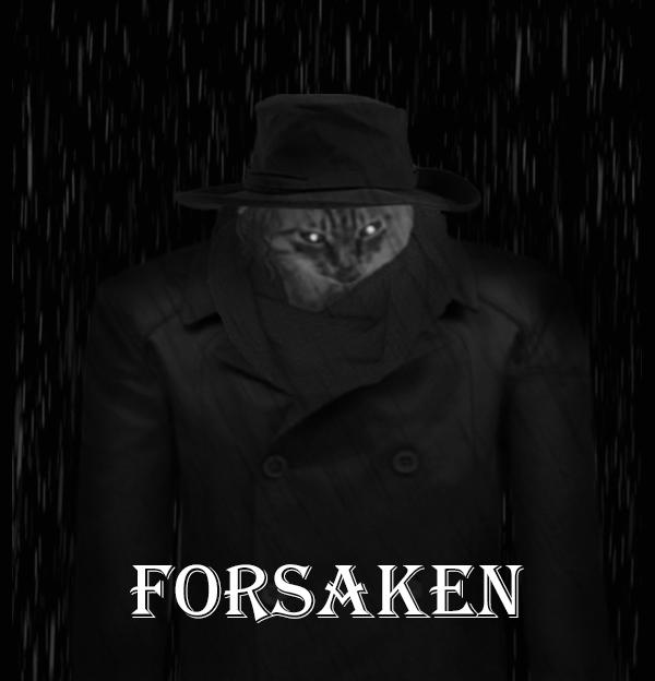 Forsaken cat Кот, Фотошоп мастер, Photoshop, Нуар