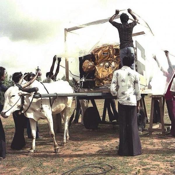 Транспортировка «The Apple», индийского спутника, 1981 год.