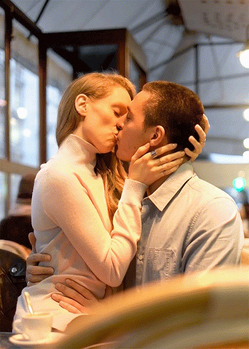 Поцелуй x2 Поцелуй, Гифка, Romain Laurent, Не мое