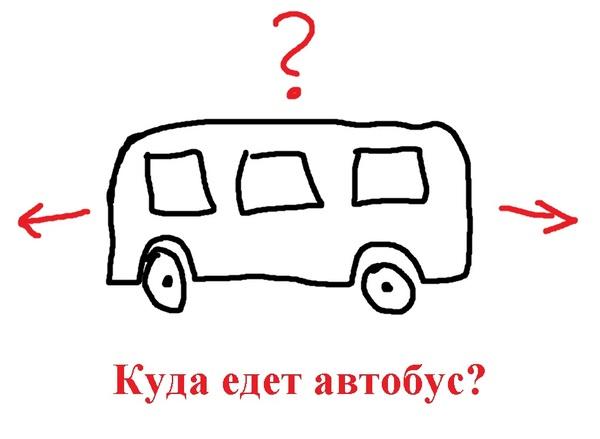 дается задача куда едет автобус сути, это