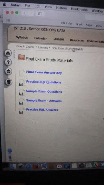 Преподаватель выложил в сеть материлы для экзамена, в том числе и ответы