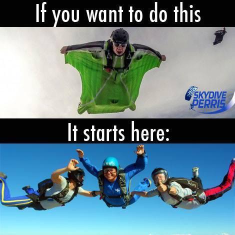 Как стать парашютистом любой ценой Парашют, Вингсьют, Aff, Классика, Длиннопост