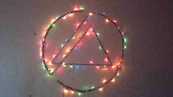Гирлянда и Linkin Park Linkin Park, гирлянда, Новый Год, общежитие, студенчество