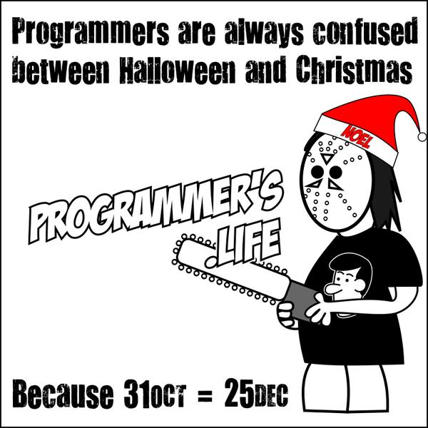 Программисты и рождество Programmers life, Программист, Рождество, Хэллоуин