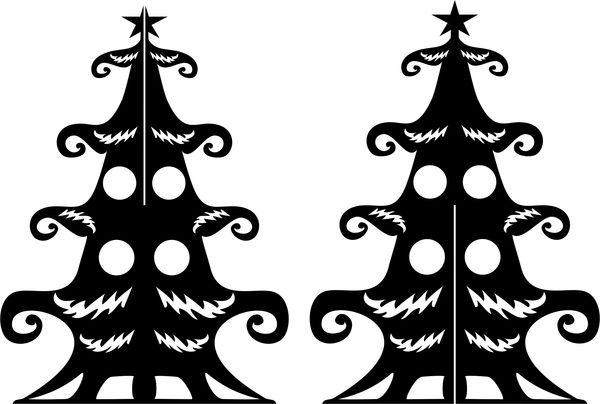 Двумерным оленю и Деду Морозу — двумерную ёлку! Ёлка, Новый Год, Резка, Вектор, Ответ на пост