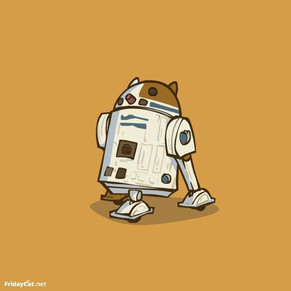R2C2 — Пятничный Котик №34 Пятничный котик, Fridaycat, Star wars, R2D2, Кот, Гифка