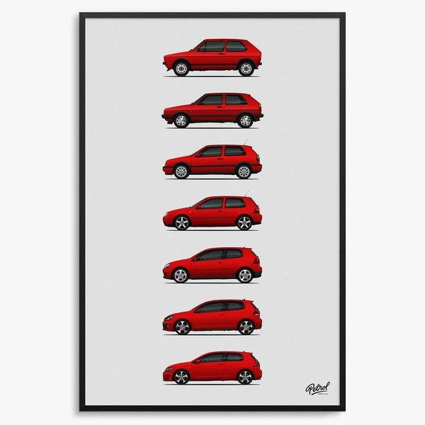 Эволюция формы кузова некоторых популярных моделей автомобилей. Эволюция, Форма кузова, Популярные модели, Авто, Иномарки, Длиннопост, Интернет
