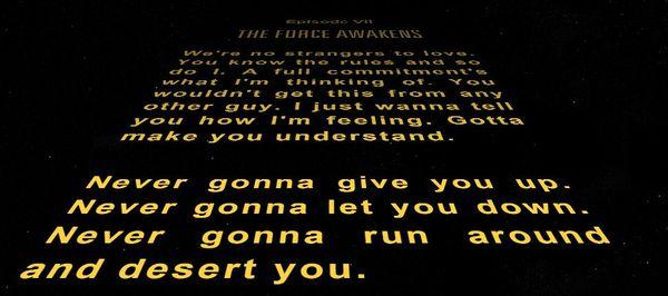 Очень ждешь звездные войны, но.. Star wars, Rick Roll, Rick Astley, Рикролл, Звездные войны VII