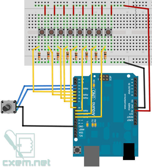 How to build a MIDI controller with the Arduino, Firmata