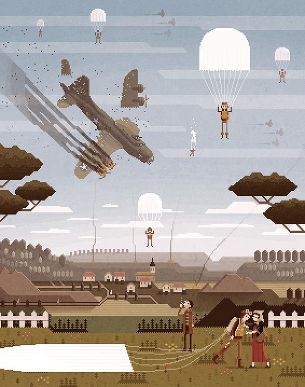 Работы Испанского художника Octavi Navarro. Pixel art, Octavi Navarro, Длиннопост