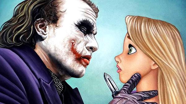 Злой Голливуд Голливуд, Дисней, Маньяк, Картинки, добро и зло, Креатив, Джокер