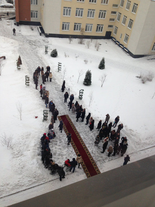 У нас недавно состоялась церемония открытия свежепостроенного здания... Фотография, Церемония, Форма, Оказия, Ковёр на снегу