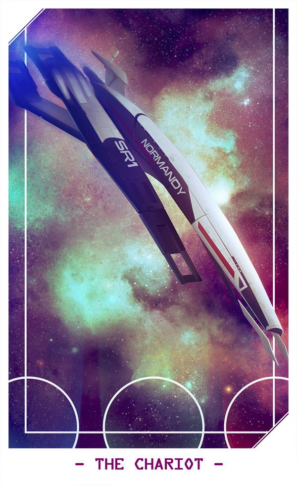 Новая работа от Alteya! Рисунок, Арт, Mass Effect, Normandy, Нормандия, Таро, Не мое