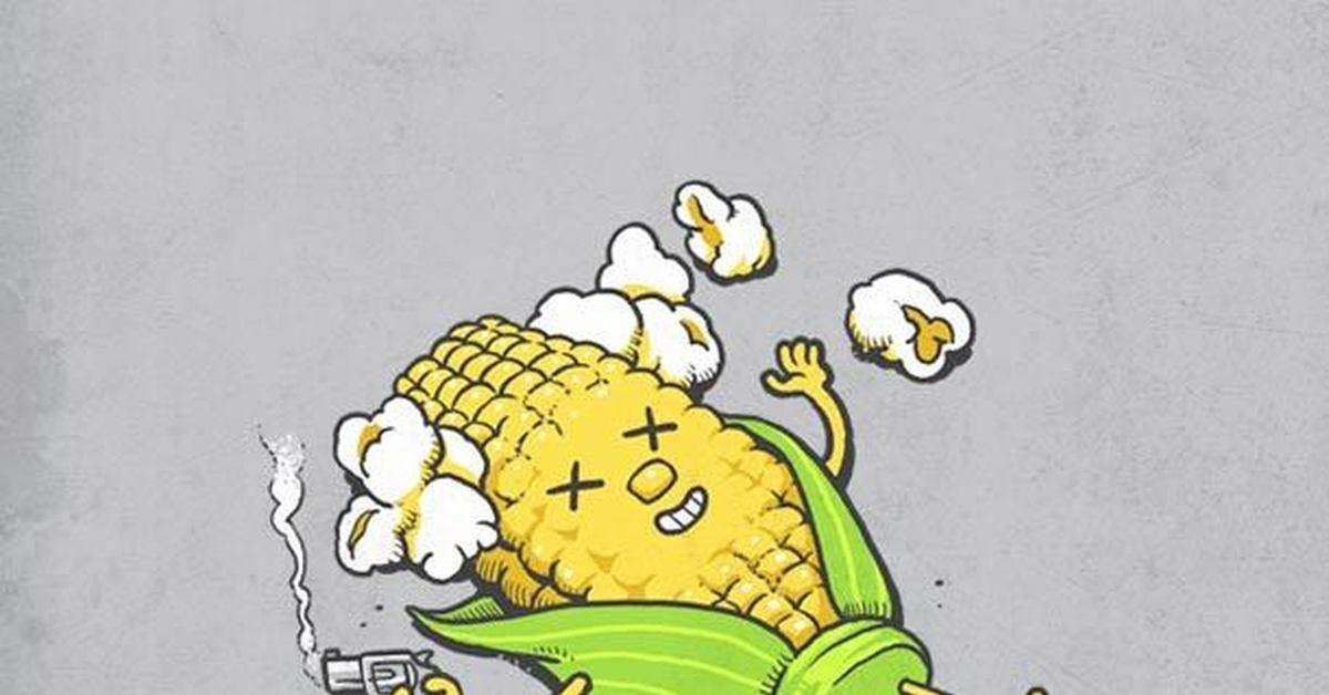 Надписями удаляюсь, картинки кукурузы прикольные
