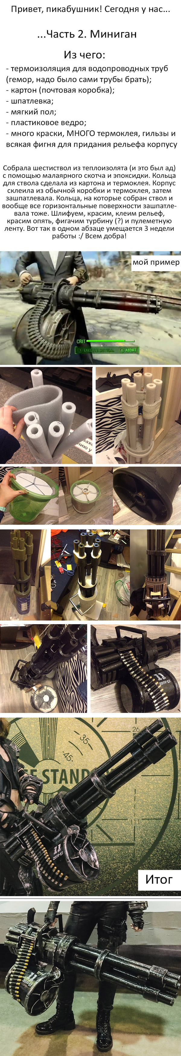 Миниган своими руками: фотопроцесс Minigun, Fallout, Косплей, Длиннопост