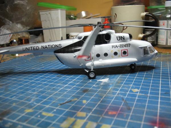 Ми-8АМТ сил ООН в Африке. стендовый моделизм, Вертолеты России, модель, ми-8, ООН, длиннопост