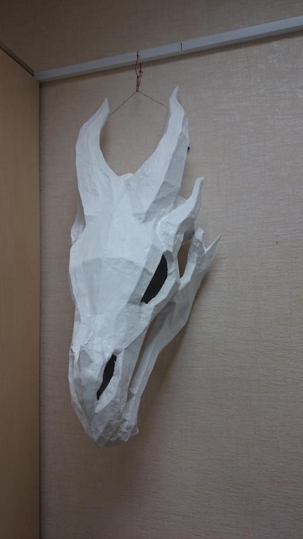 Череп дракона своими руками. поделки, череп дракона, dragon skull, skyrim, Новый Год, длиннопост