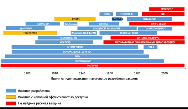 Время, затраченное на разработку вакцин ВИЧ, СПИД, Туберкулез, Болезнь, Лечение, Вакцина, Гепатит, Столбняк