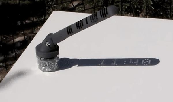 Солнечные часы напечатанные на 3D принтере