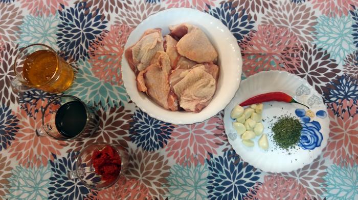 Курица в меду и соевом соусе. Остро-сладко-соленый рецепт Курица, Мед, Маринад, Видео, Д&Г mix, Видео рецепт, Юмор, Духовка, Длиннопост