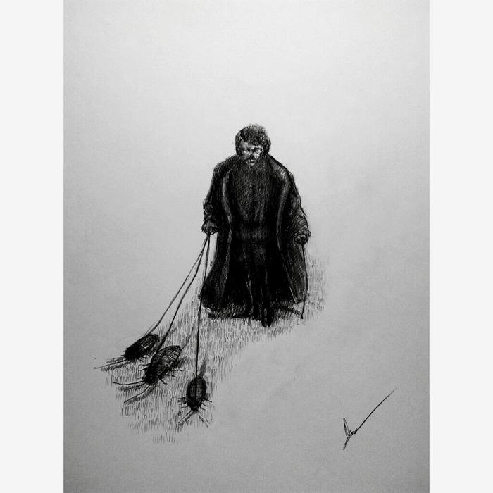 Небольшие иллюстрации и зарисовки Арт, Рисунок карандашом, Рисунок, Длиннопост, Иллюстрации, Тараканы