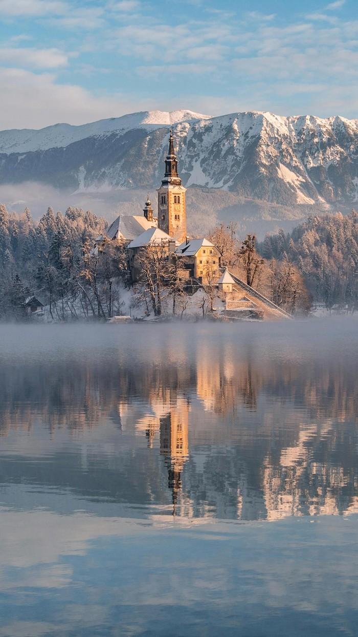 Красивый вид Фотография, Горы, Зима, Красота