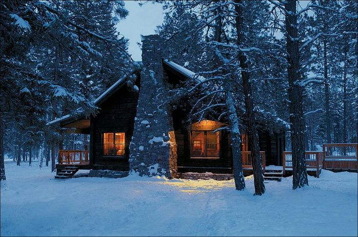 Зимний домик