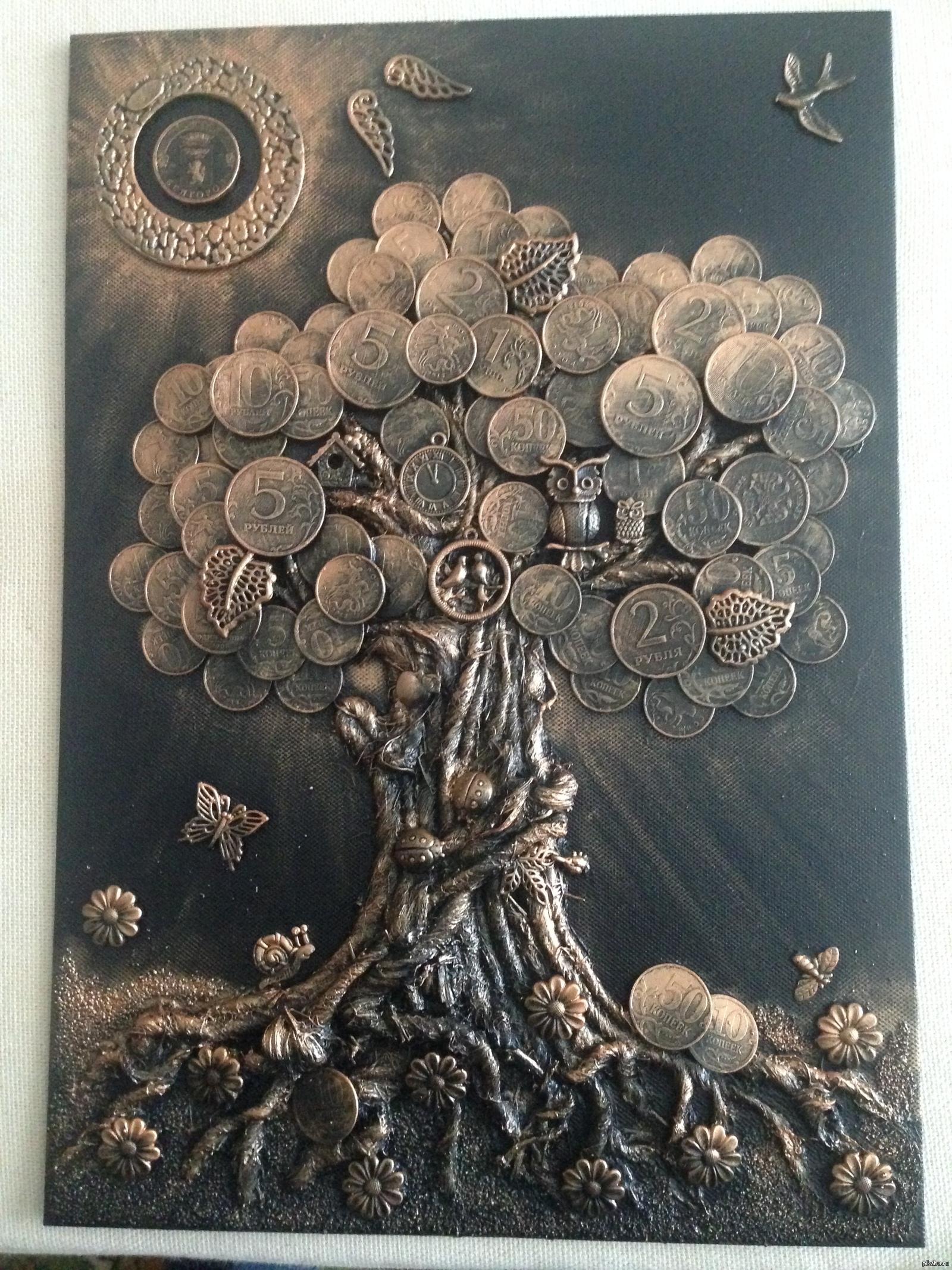 Как сделать деревья из монет своими руками фото 444
