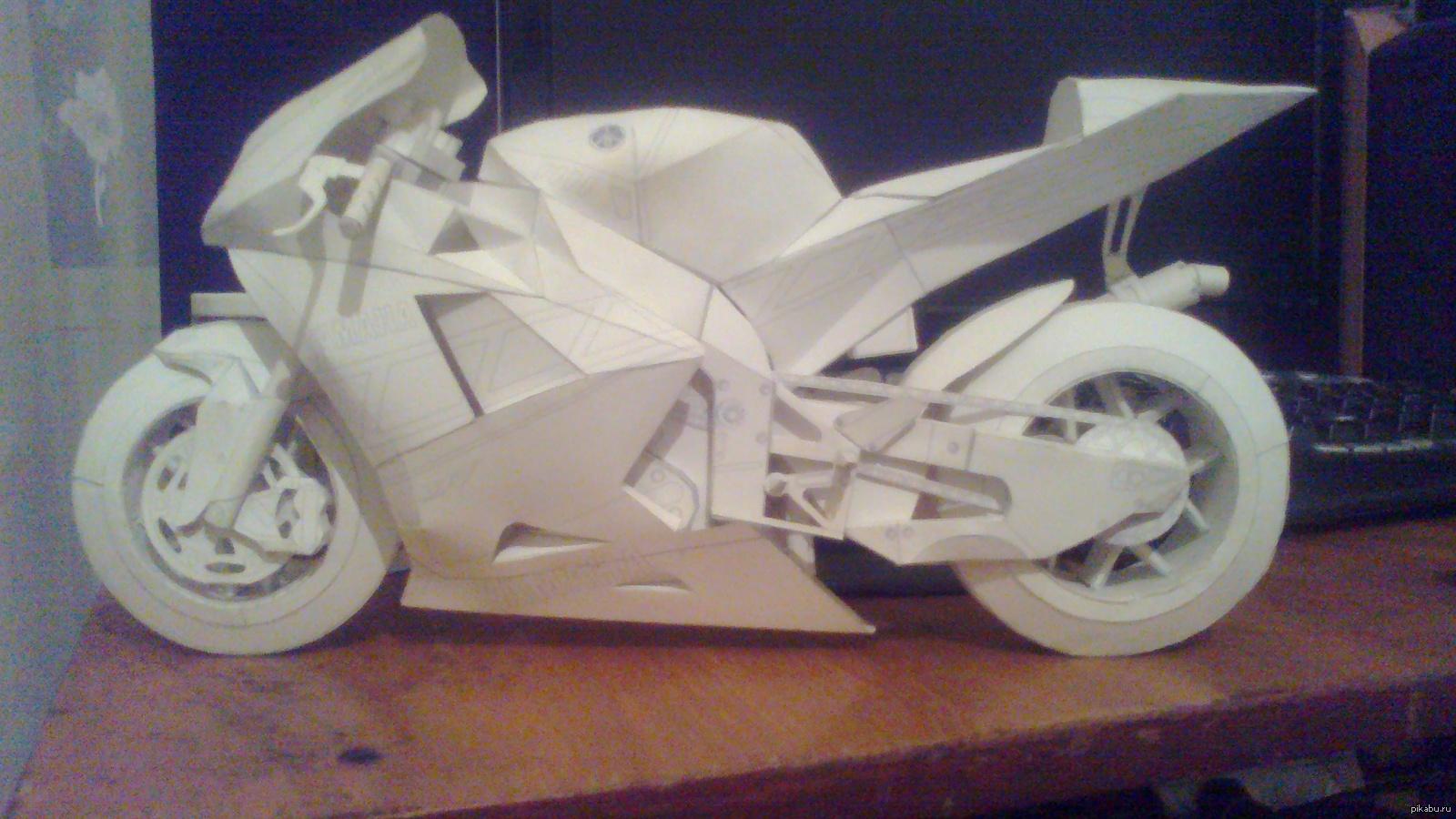 Объемная открытка мотоцикл своими руками, надписью