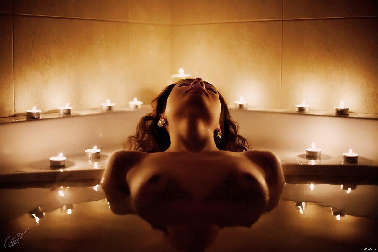 секс в ванной со свечами большинство