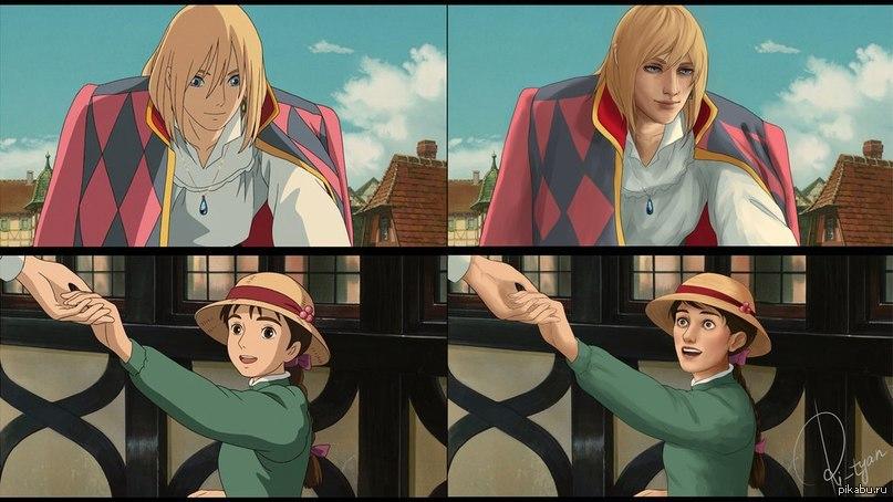 ходячий замок аниме картинки