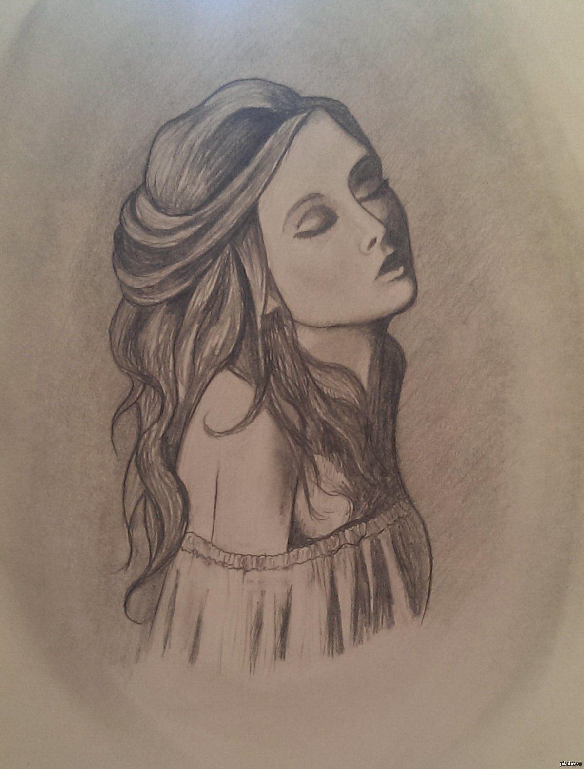 Картинки с изображением девушек для срисовки, будет