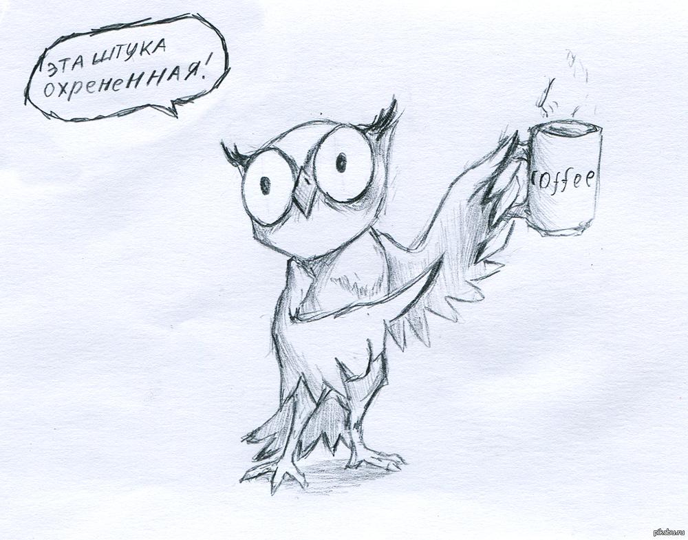кофе и сова картинки