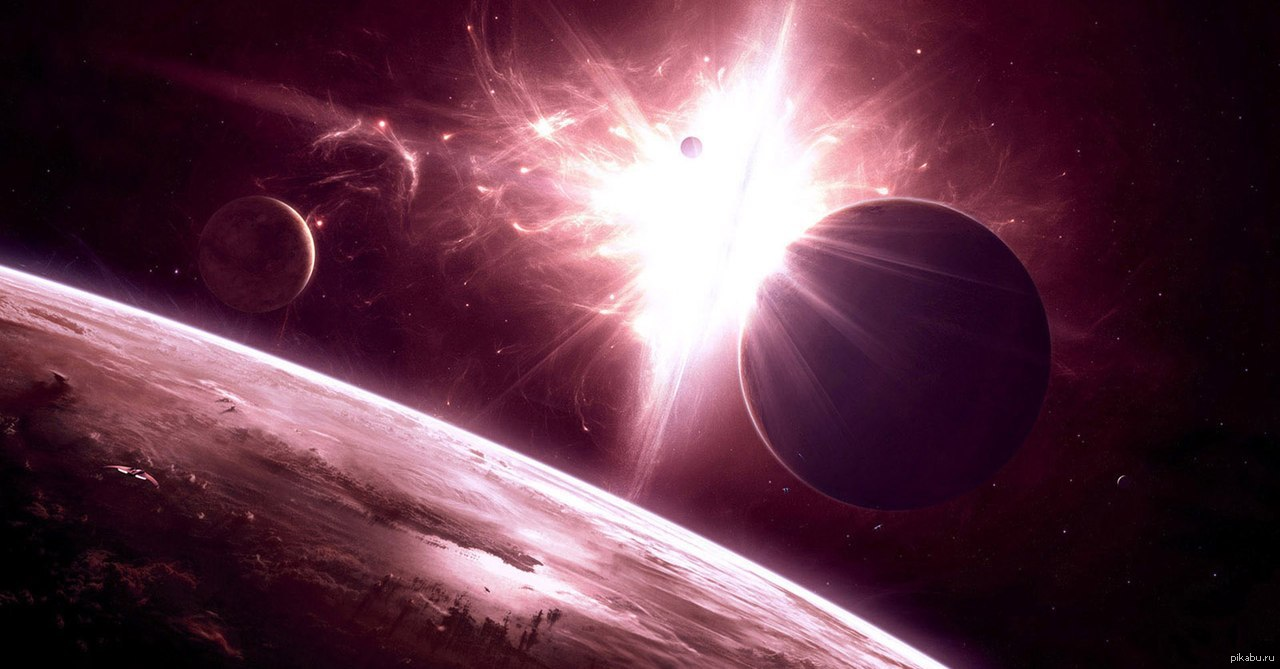 planets and galaxies - HD 1920×1080