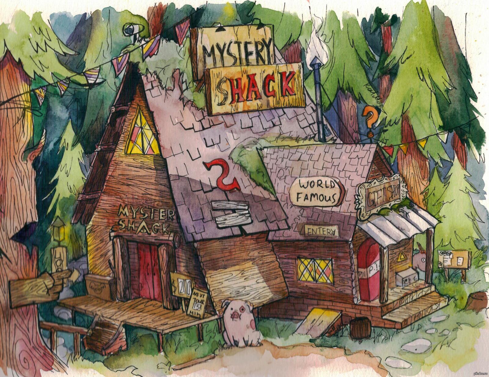 Как делают кукольный домик Хижины Чудес из Гравити Фолз