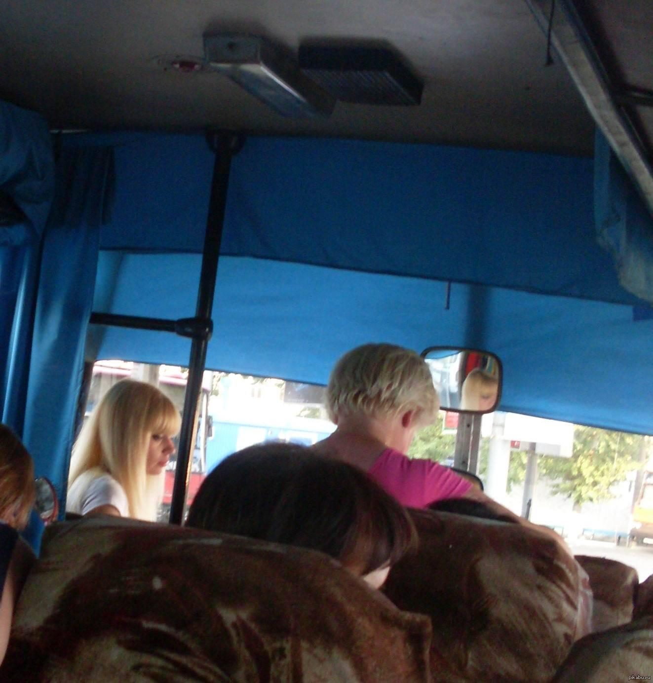 Фотка в автобусе с блондинкой — photo 4