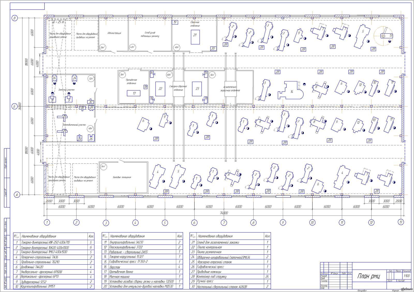 план ремонтного цеха мой чертеж на диплом Это план ремонтного цеха мой чертеж на диплом