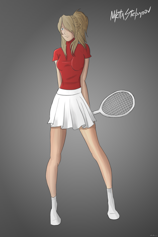 Как нарисовать теннисисток