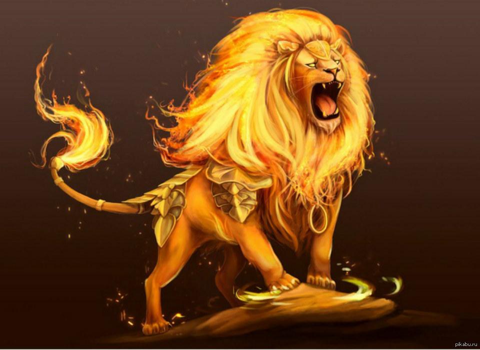 картинки огненный лев