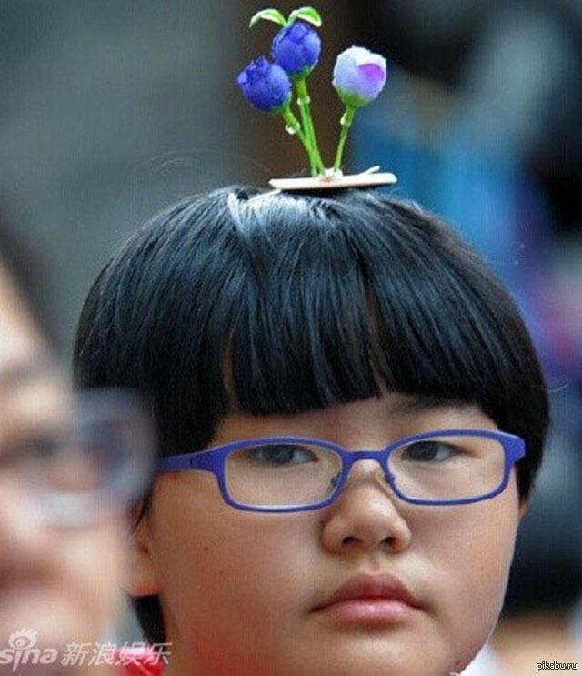 Цветы на голове
