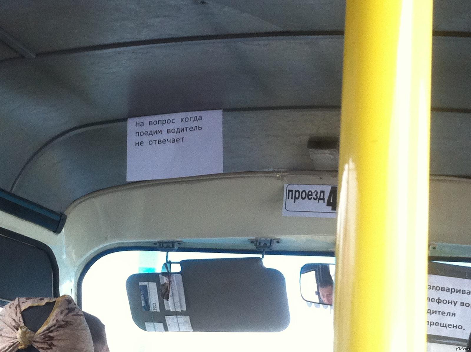 водитель маршрутки смешные фото наилучшее