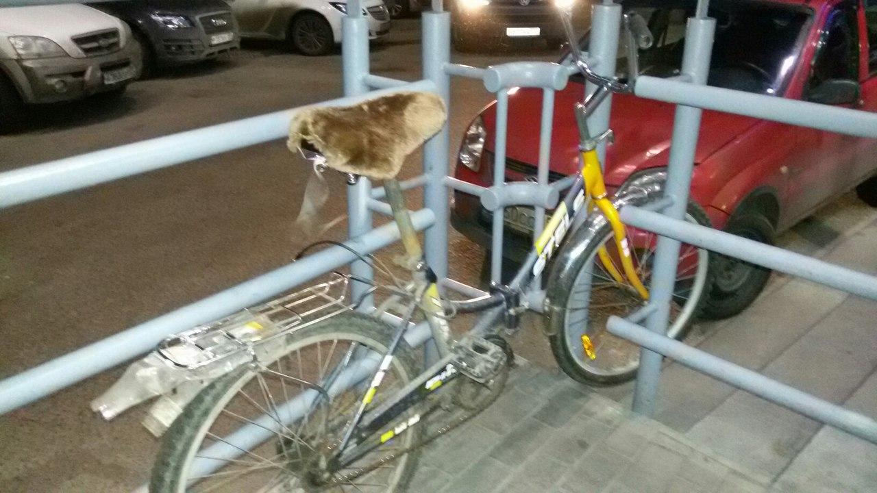 Старая жопа на велосипеде